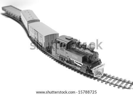 Model of the railway - stock photo