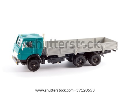 Model of the truck on a light background - stock photo