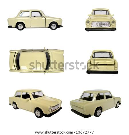 Model of Trabant car Berlin communism car - stock photo