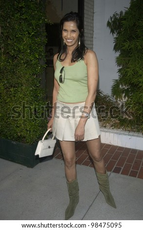 Model PAMA LAKSHMI at the opening of designer Stella McCartney's first Los Angeles store. Sept 28, 2003  Paul Smith / Featureflash