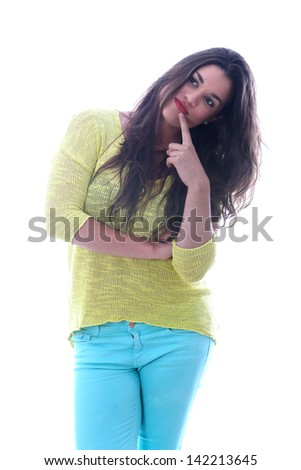 Model Released. Happy Young Woman - stock photo