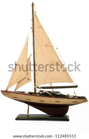 Model Sailboat - stock photo