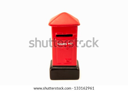 Model Thailand post box on white background