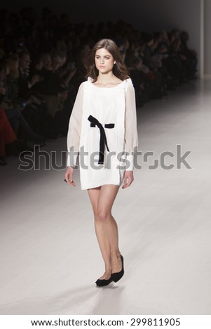 Model walks the runway for Athena Chuang from Taipei during the Asian Fashion Collection Show during Mercedes Benz Fashion Week Fall Winter 2015 at the Lincoln Center in New York on February 14 2015