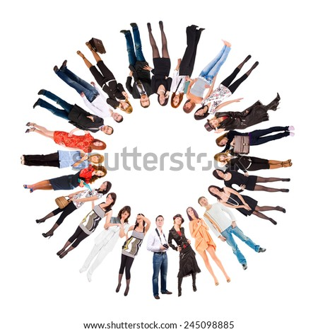 Models Diversity Sign of Circle  - stock photo