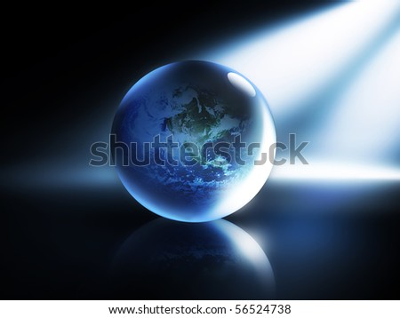 Modern abstract background with planet - stock photo