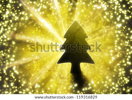Modern abstract christmas tree background - stock photo