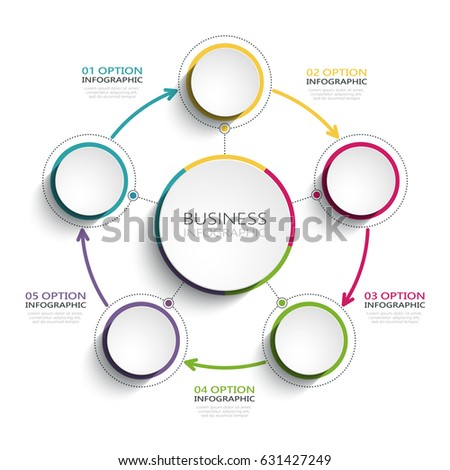 Modern Abstract 3d Infographic Template Five Stock Illustration ...