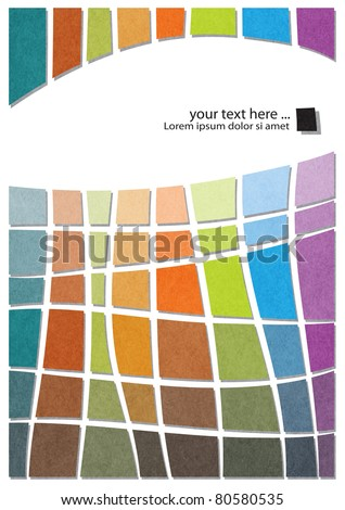 modern abstract design, colorful geometric template  (raster version) - stock photo
