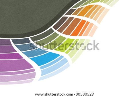 modern abstract design, colorful geometric wave  (raster version) - stock photo