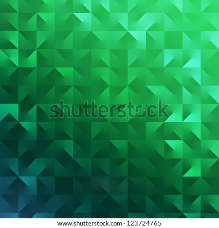 Modern abstract green background for Saint Patrick's Day - stock photo