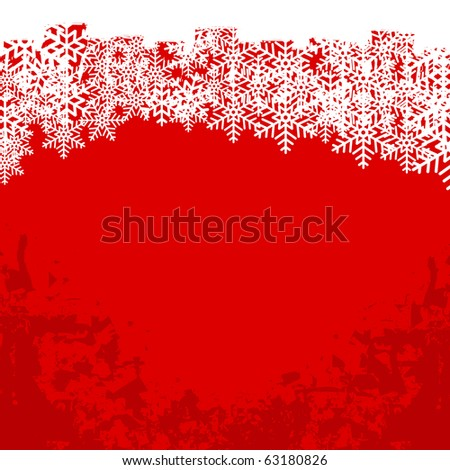 Modern abstract grunge winter background - stock photo