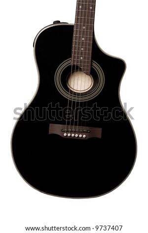 Modern acoustic guitar - stock photo