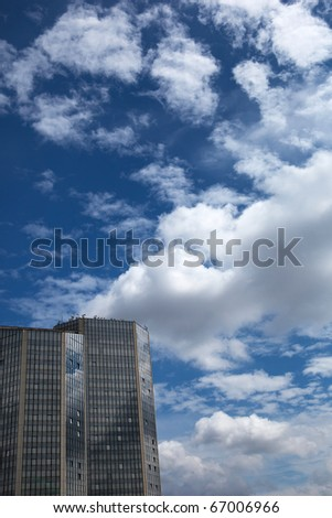 modern administrative/office building - stock photo
