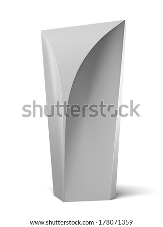 Modern Advertising Stand - stock photo