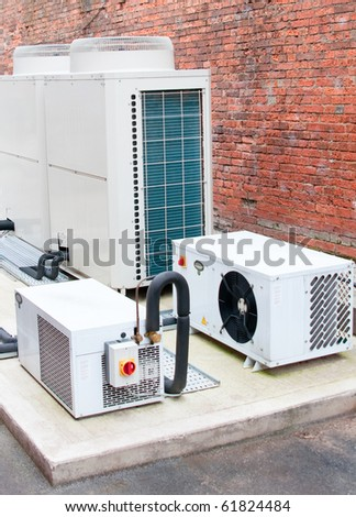 Modern air conditioning unit - stock photo