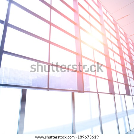 modern airport wall - stock photo