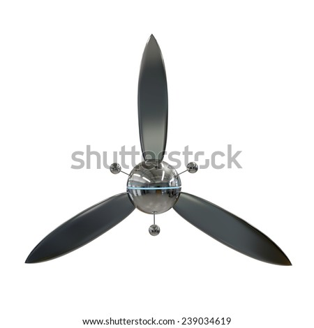 modern airscrew isolated on white background