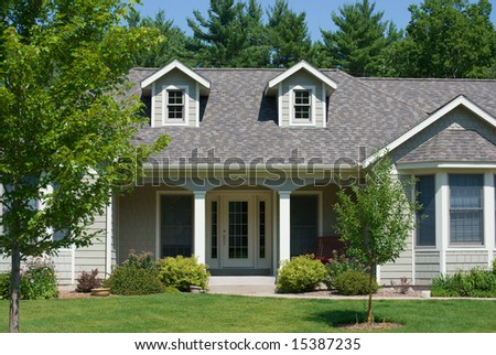 Modern american home - stock photo