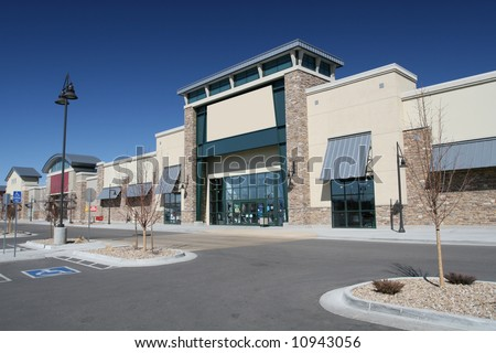 Modern American Strip Center - stock photo