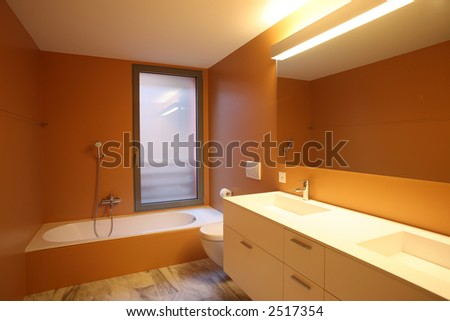 modern and clean bathroom - stock photo