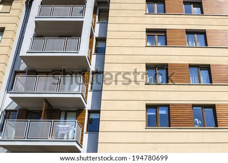 Modern and new apartment building. - stock photo