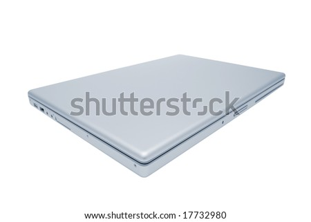 Modern and stylish laptop on a white background