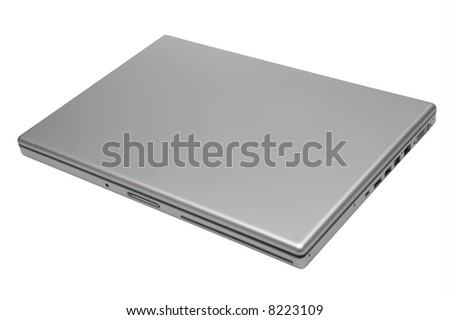 Modern and stylish notebook on a white background