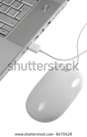 Modern and stylish notebook on a white background - stock photo