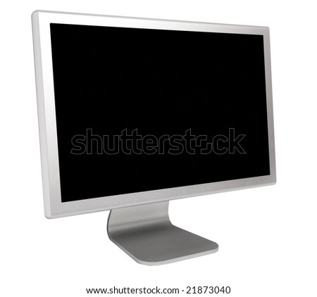 modern and thin display on a white background - stock photo