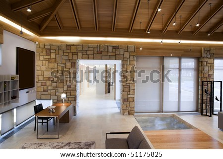 modern apartment - stock photo