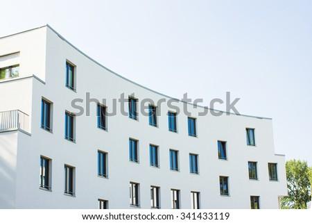 Modern Apartment Block - stock photo