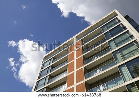 Modern Apartment Block in London, UK - stock photo