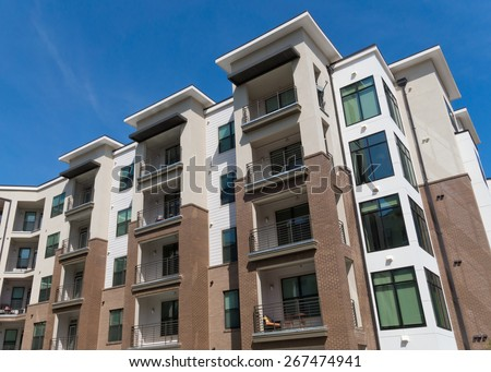 High Rise Apartment Design Exterior apartment exterior stock images, royalty-free images & vectors