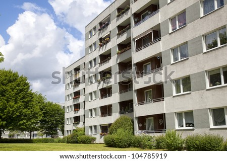 Modern apartment building in Gemany - stock photo