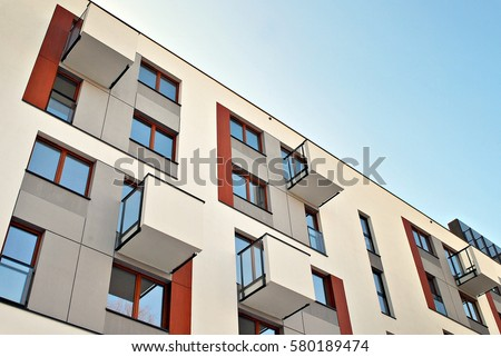 Modern Apartment Buildings Stock Photo 580189474 - Shutterstock