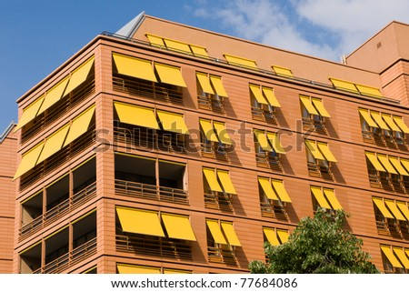 Modern apartment buildings in Berlin - stock photo