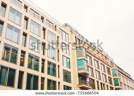 Modern Apartment Buildings With Marble Facade