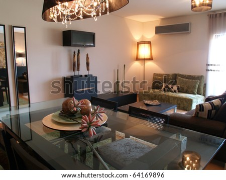 Modern apartment living room decoration
