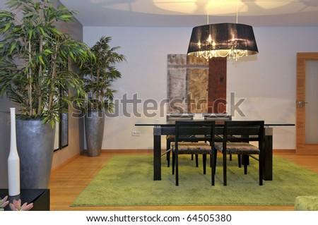 Modern apartment living room decoration - stock photo