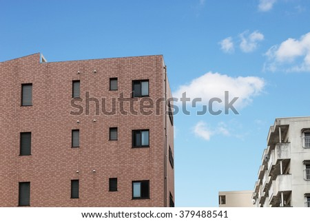 Modern apartment or condominium building exterior. ,Soft Focus - stock photo