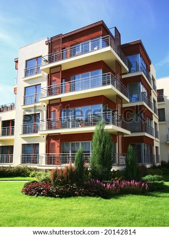 Modern apartments - stock photo