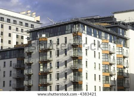Modern Apartments - stock photo