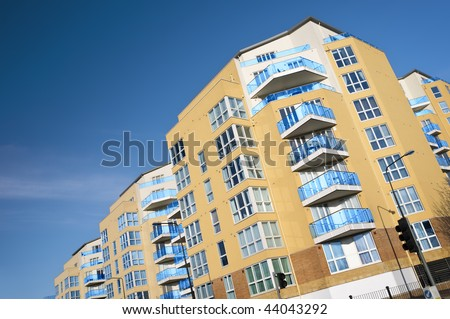 Modern apartments building. - stock photo