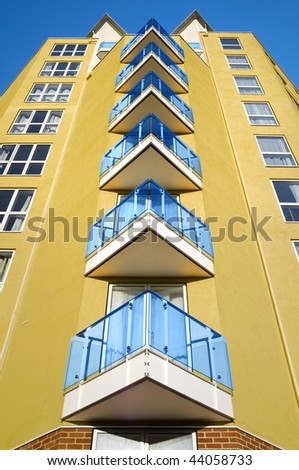 Modern apartments building in London. - stock photo