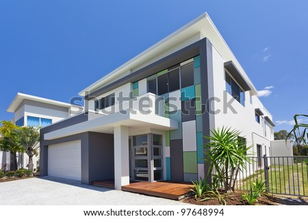 Modern architectural house front