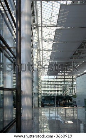 Modern Architectural Interior of Airport