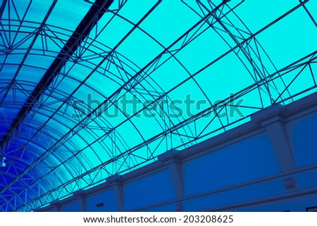 Modern Architectural Skylight Structure From Indoor Hotel