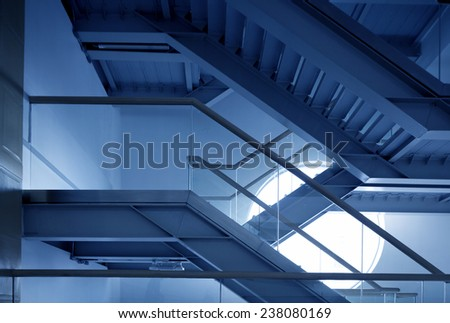 Modern Architectural Structure from Indoor - stock photo