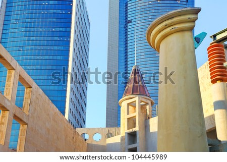 Modern architecture abstract - stock photo